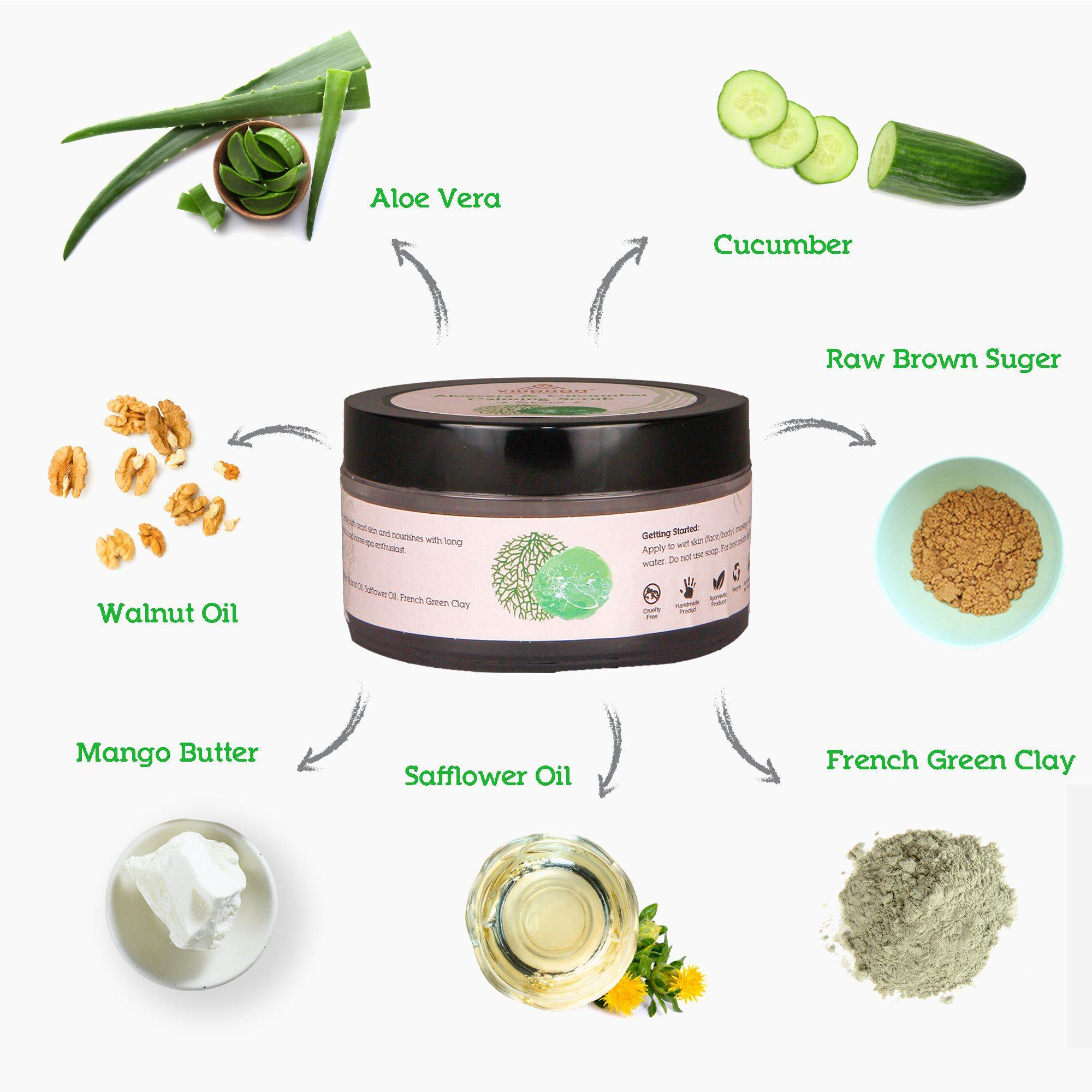 Aloevera And Cucumber Calming Scrub