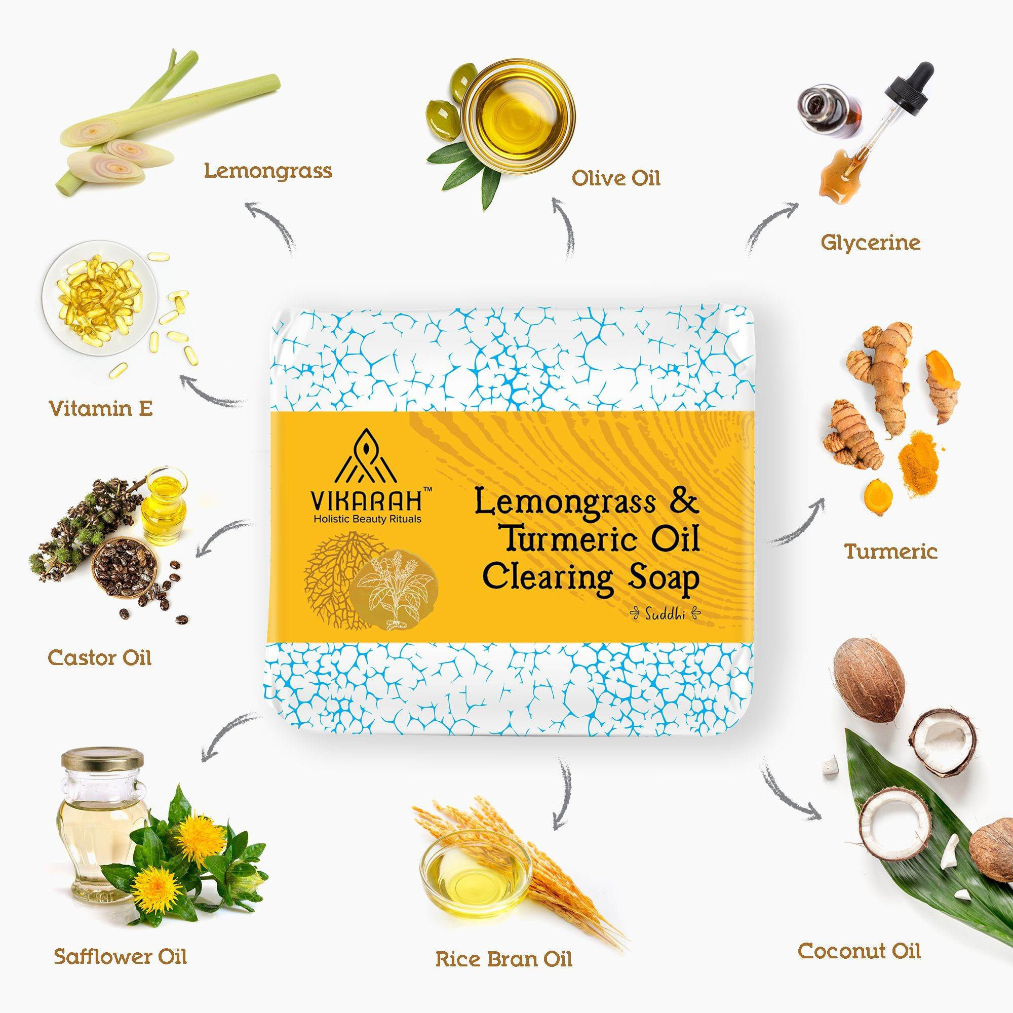 Lemongrass and Turmeric Oil Clearing Soap